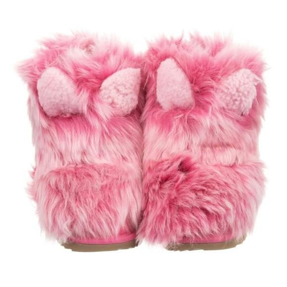 Ugg Pinkipuff Shearling Cuff Kids Boots